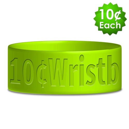 "Wide (1"") Debossed Wristbands"