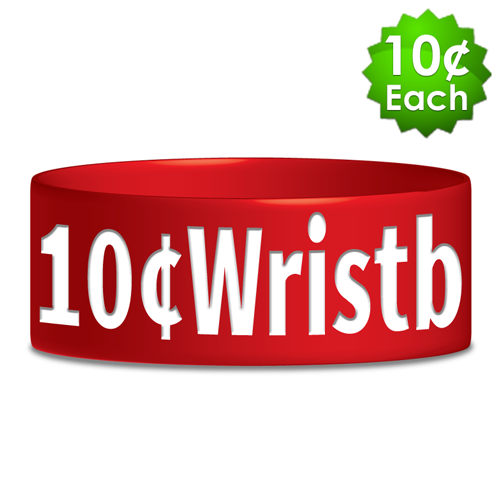 "Wide (1"") Debossed Printed Wristbands"