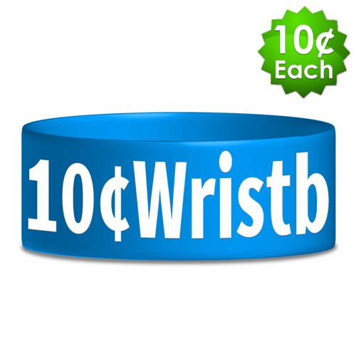 "Wide (1"") Silkscreened Wristbands"