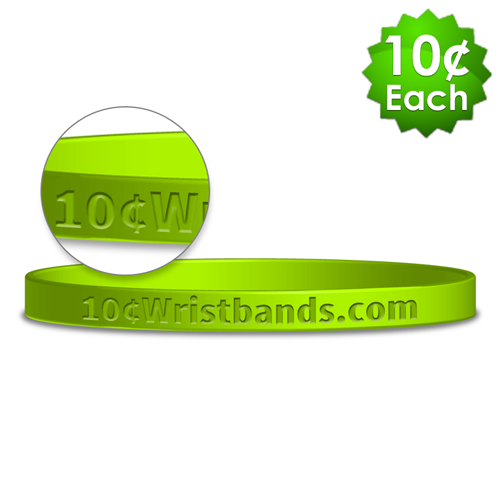 Debossed Thin Wristbands