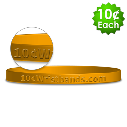 Embossed Thin Wristbands