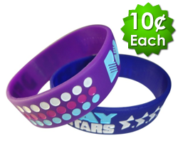 Wide (1 Inch) Debossed Wristbands