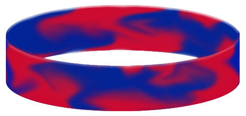 Wristband Color Example - Swirled