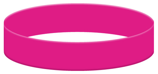 Wristband Color Example - Hot Pink